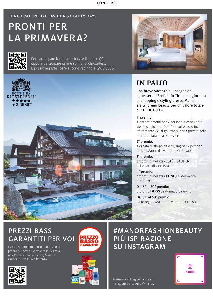 Special Fashion & Beauty Days Manor Balerna