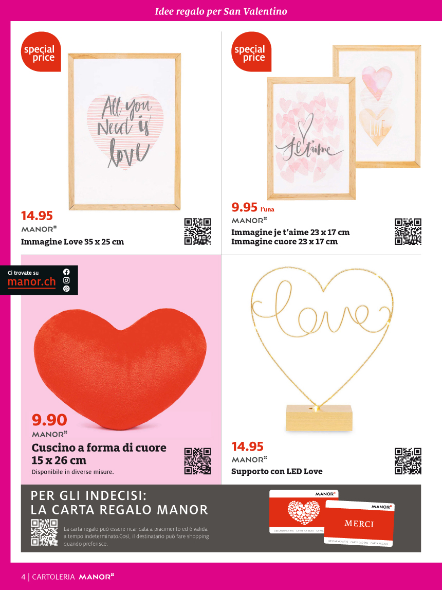 Special Valentine da Manor Balerna