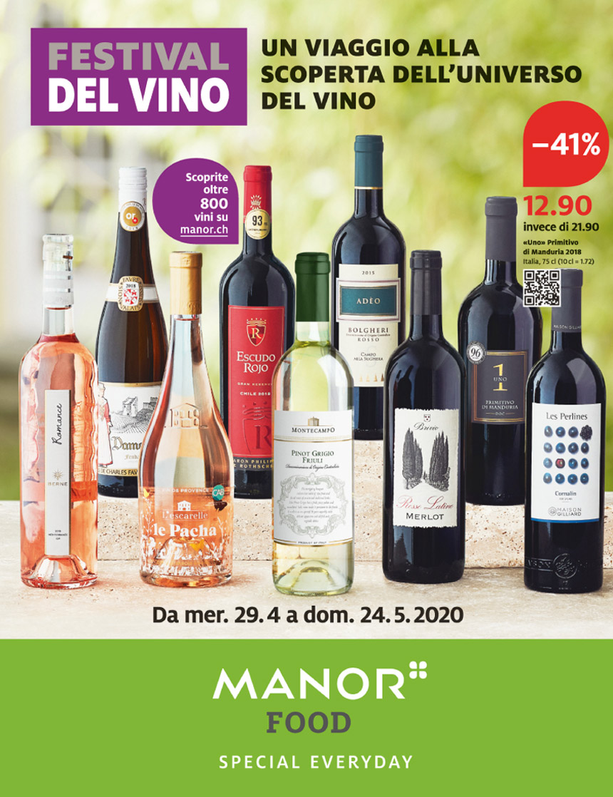 Festival del vino da Manor Food Balerna