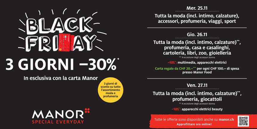 Manor Balerna Black Friday 2020
